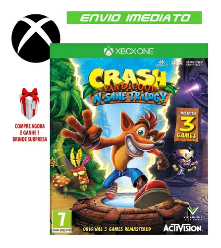 crash bandicoot trilogy xbox one midia digital on e off