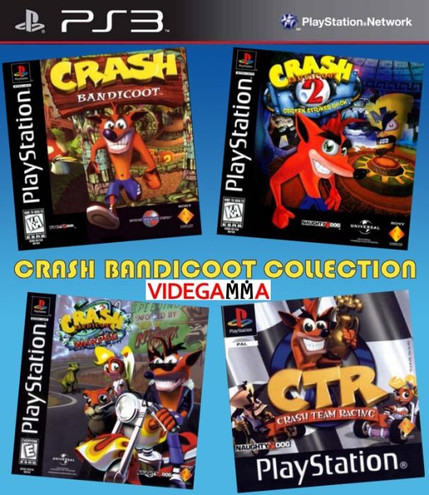crash collection 1 2 3 y carrera - español - ps3