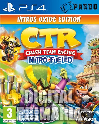 crash  nitro fueled nitros oxide + plus- ps4 digital- pardo