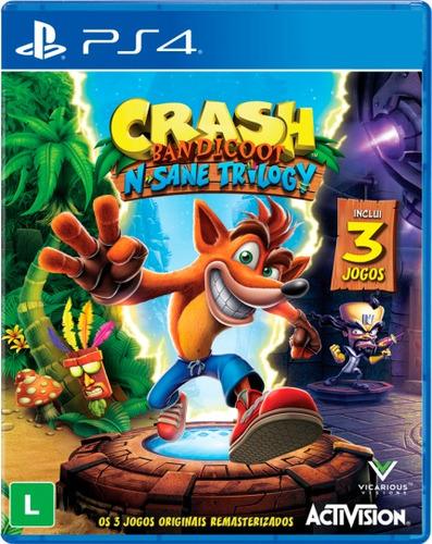 crash n'sane trilogy - ps4 - mídia física - nv