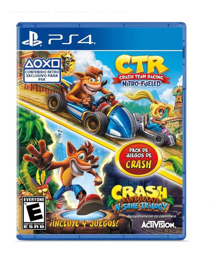 crash team racing + crash bandicoot n. sane trilogy ps4