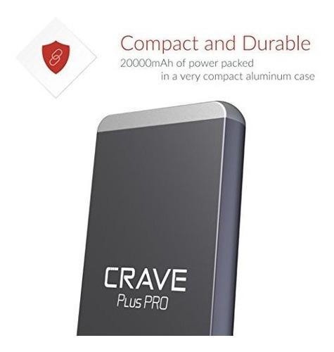 crave plus pro externo portatil cargador