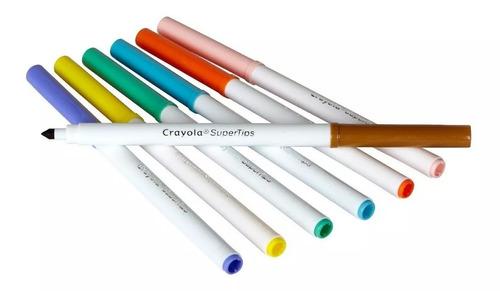 crayola 100 marcadores lavables plumones delgados envio grat