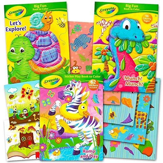 Crayola Actividades Y Para Colorear Libros Establecer Con Pe ...