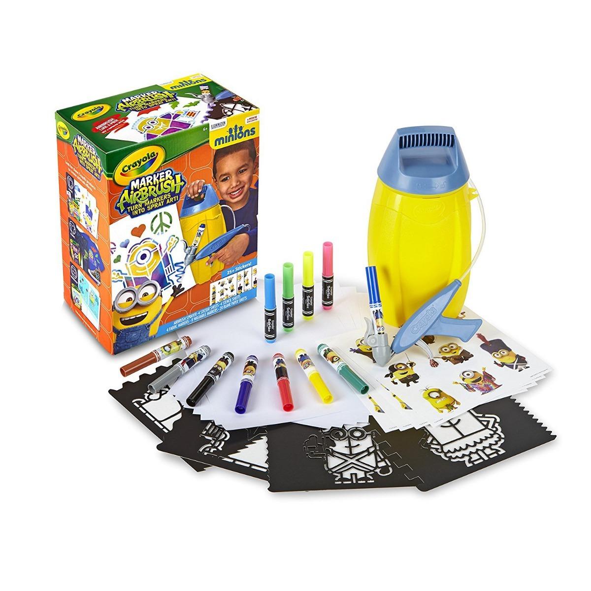 Crayola Aerografo Minions Papel Y Tela Set Con Envio Gratis ...