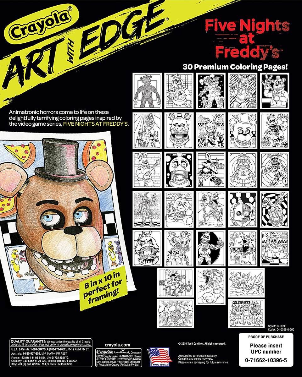 Crayola Cinco Noches En Dibujos Para Colorear De Freddy Adu