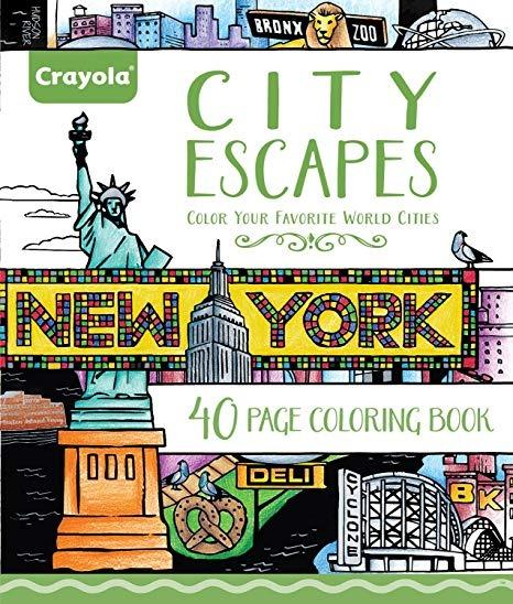 Crayola Ciudad Escapes Dibujos Para Colorear Regalo Para Lo