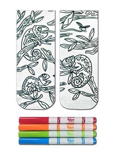 crayola color-en calcetines con 1 par de calcetines y  u5