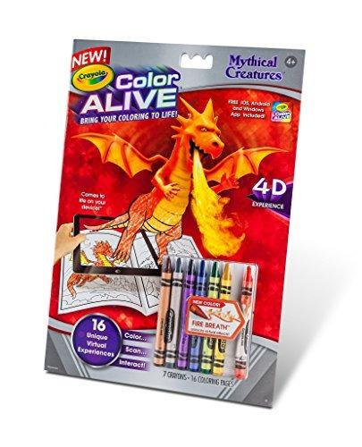 Crayola Color Vivo Acción Criaturas Míticas Páginas De Colo ...