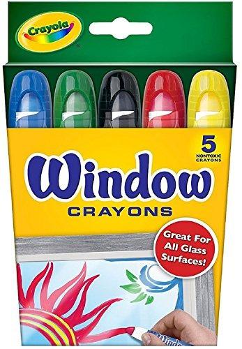 crayola crayones de ventana lavables, surtidos 5 ea (paquete