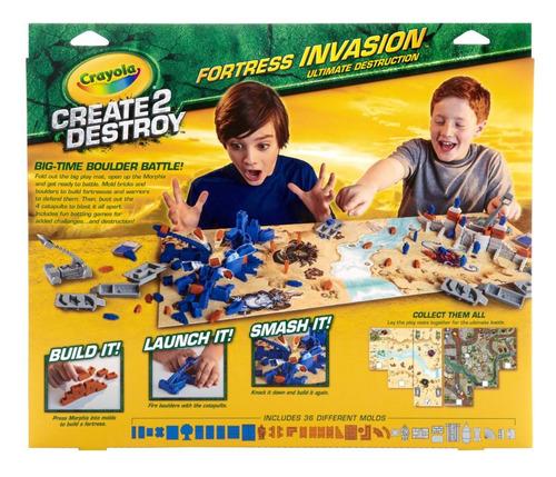 crayola juego crea y destruye la fortaleza - create destroy