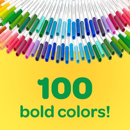 crayola marcador lavable super tips 100 unidades originales