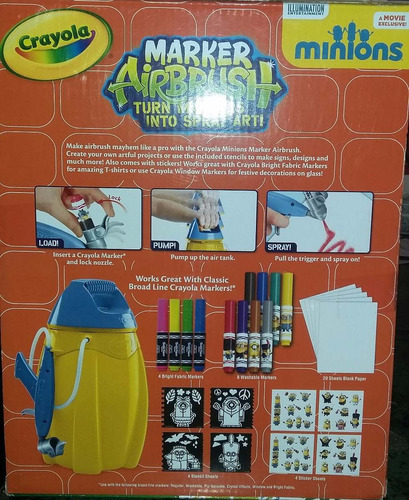 crayola marker airbrush edicion especial minions!!!!
