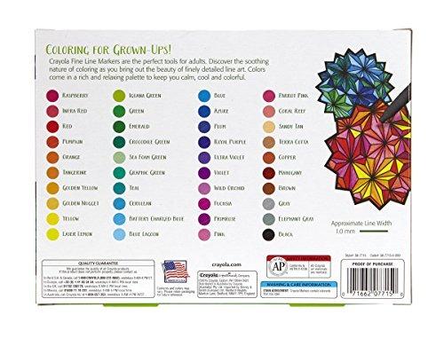 Crayola Para Colorear Adulto, 40ct Fine Line Marcadores - $ 809.00 ...
