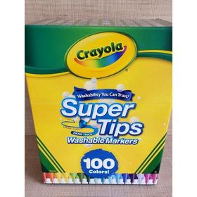 Crayola Plumones Supertips 100 Plumones Lavables Stock