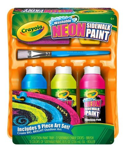 crayola set pintura tiza neon piso