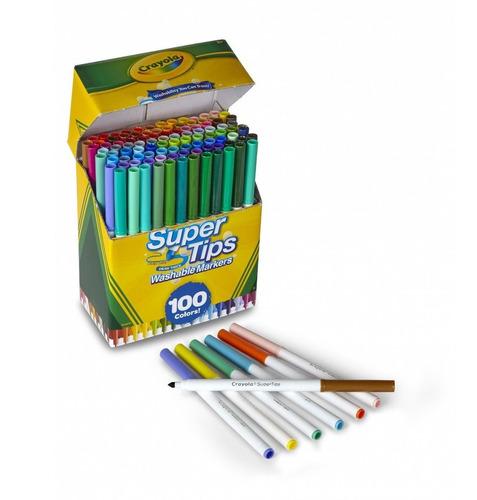 crayola super tips 100pz marcadores lavables producto import