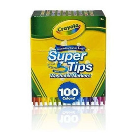 Crayola Super Tips Wasable 100 Count Markers