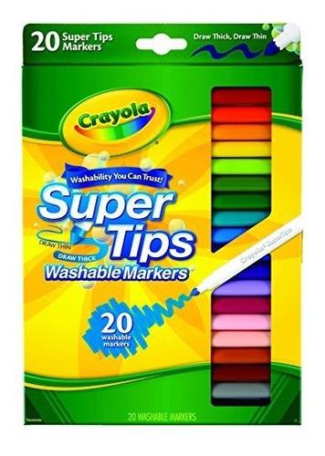 crayola washable super tip marcadores paquete de 1 multicolo