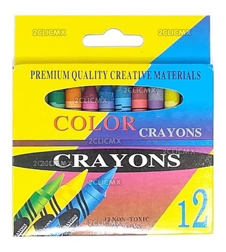 crayolas mayoreo economico juguete piñata bolo regalo 12 pz
