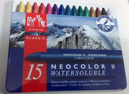 crayones caran d´ache neocolor il x 15 lata solubles al agua