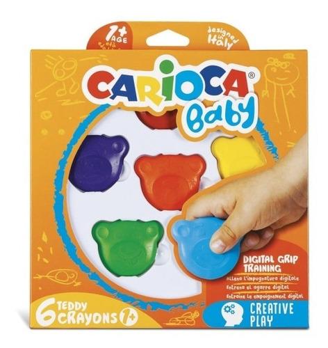 crayones carioca bebe especial aprendizaje x6 made in italy