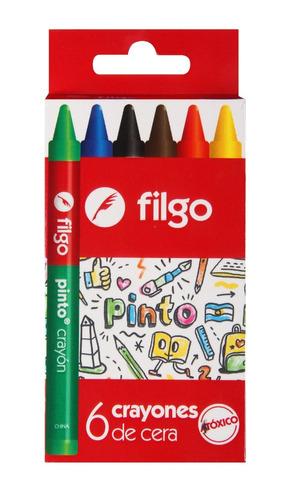 crayones crayon ceras ceritas filgo x 6 un.