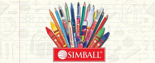 crayones jumbo simball  x 6 unid crayon cera grueso