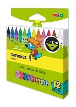 crayones pizzini clasico corto x 12 colores - 9312