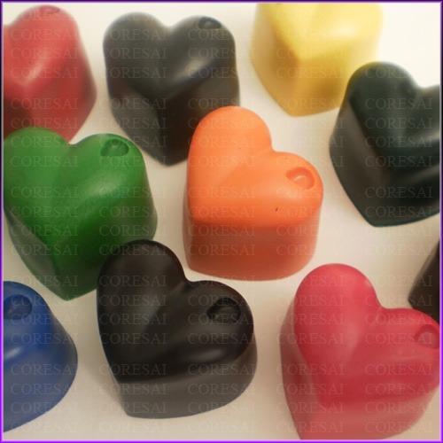 crayones - souvenirs - corazoncitos - cumpleaños - pack x 48