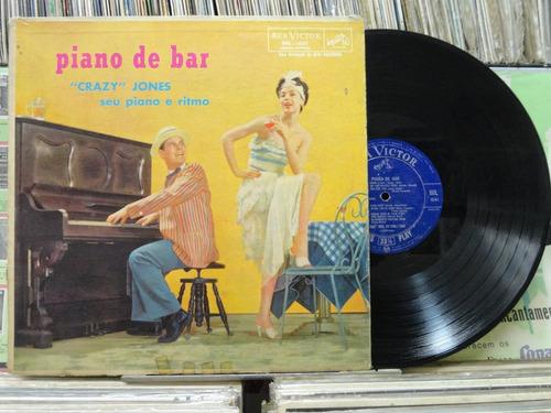 crazy jones seu piano e ritmo piano de bar - lp rca victor