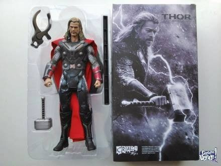 crazy toys - thor 30 cm  -  marvel movie de lujo