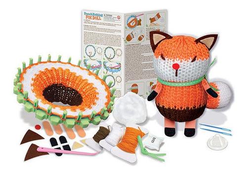 crea muñeco de zorro en tejido francés fácil 4m manualidades