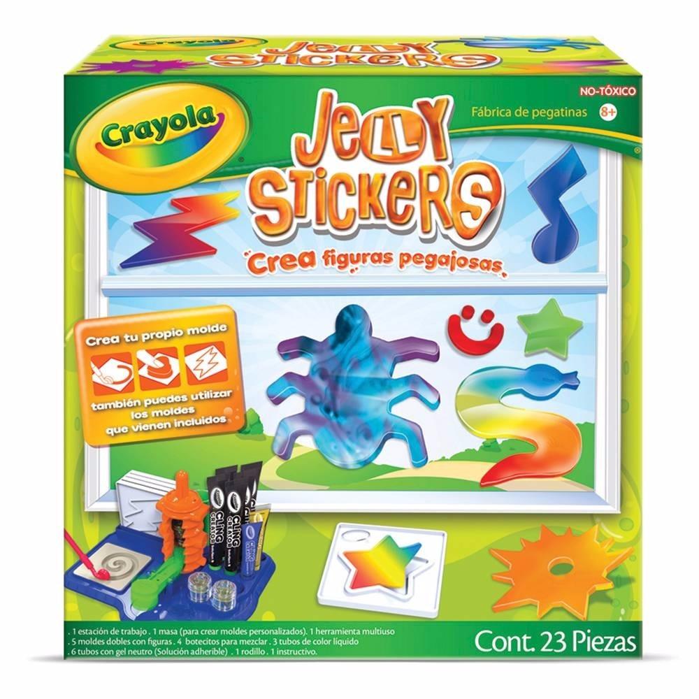 Crea pegatinas jelly stickers goma crayola en - Crea tus pegatinas ...
