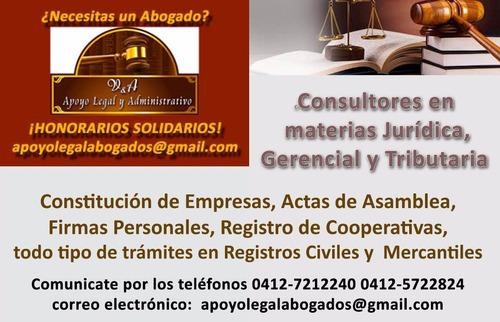 creación constitución registro empresas coop firma personal