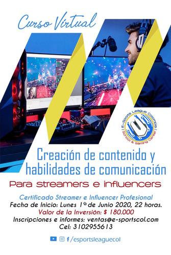 creación de contenido y comunicación para streamers