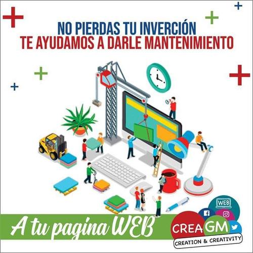 creación de sitios web y manejo de redes sociales