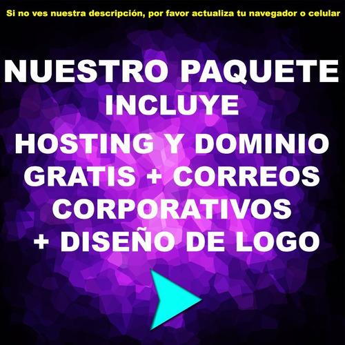 creacion y diseño web hosting y dominio gratis| logos y mas