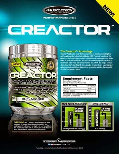 creactor  muscletech 120 servicios