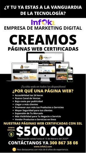 creamos páginas web certificadas