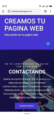 creamos tu pagina web fácil y seguro
