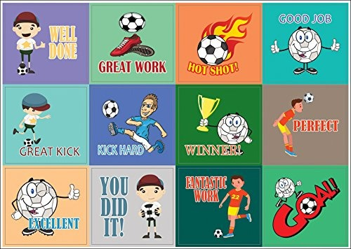 Creanoso Fútbol Sport Series Pegatinas Motivacionales 10 Ho