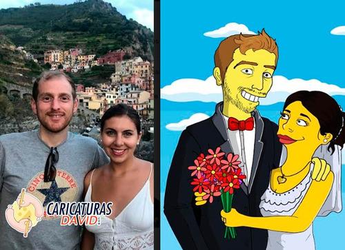 creare una caricatura tipo simpsons de tus fotos