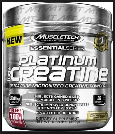 Creatie Platinum 400g Muscletech. Creatina Made In Usa -   699 b537ffeab38