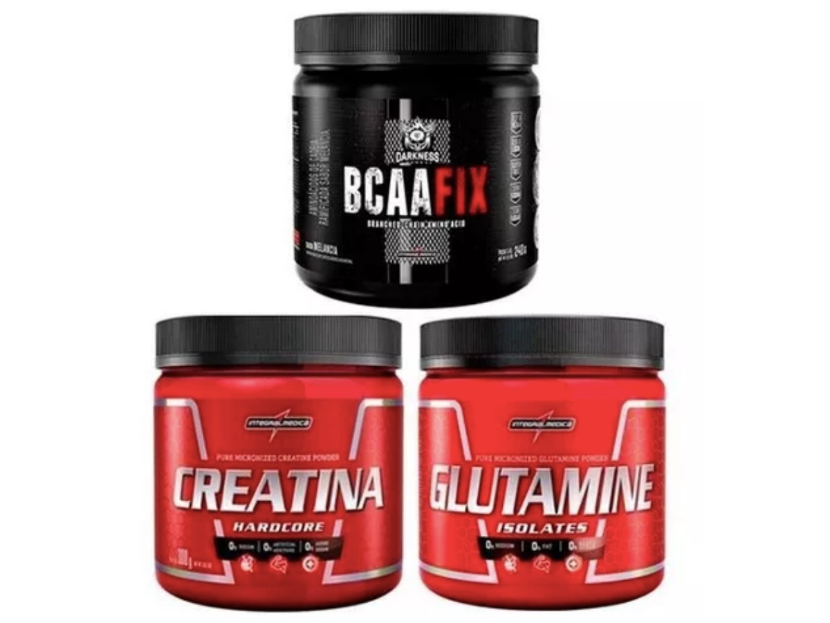 494296d8d Carregando zoom... creatina 300g integral + glutamina 300g + bcaa fix 240g
