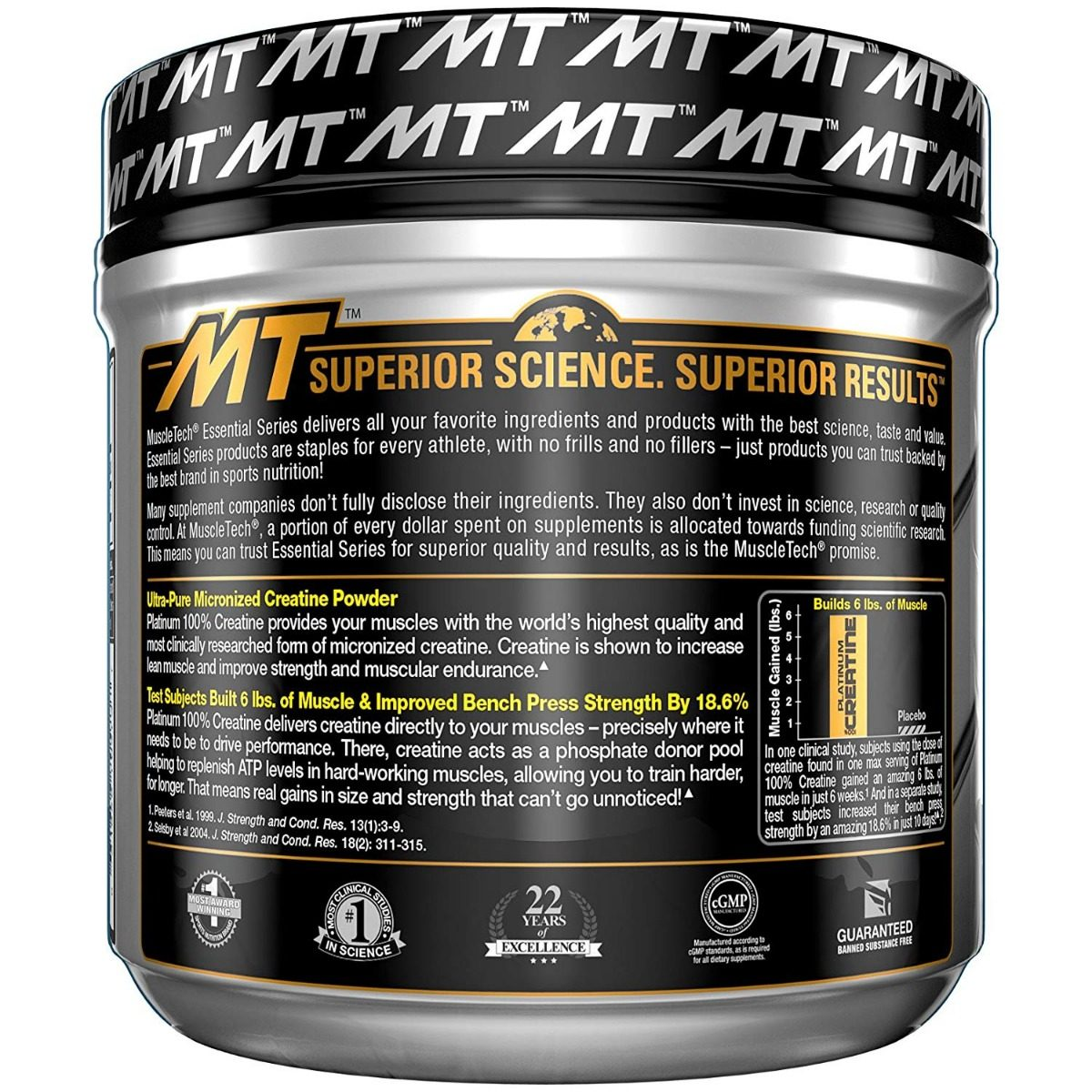 c92730421f2eb creatina micronizada platinum essential series muscletech. Carregando zoom.