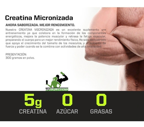 creatina micronizada (tu suplemento)