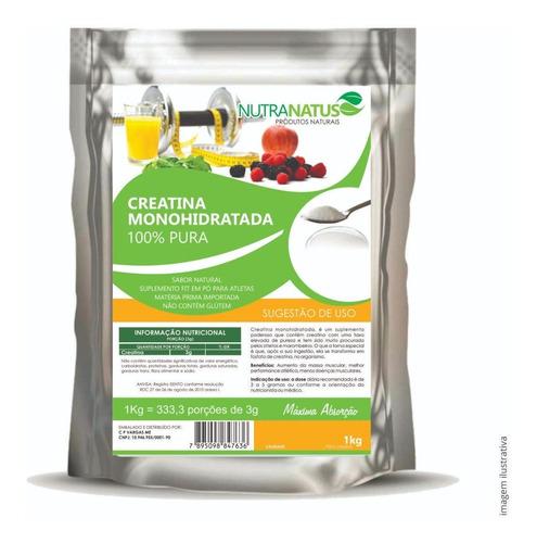 creatina monohidratada pura 1kg importada alta qualidade