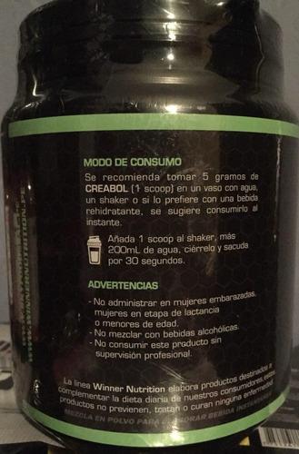 creatina monohidratada winner 300gr mas puro que otras