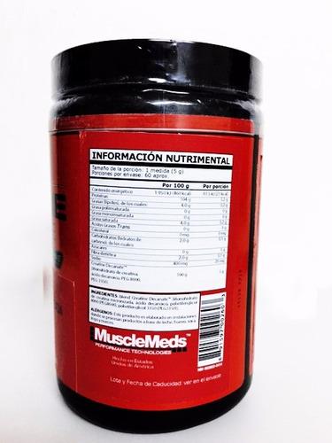 creatina musclemeds decanate 300 g (60 srvs)